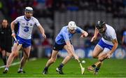 4 March 2017; Shane Barrett of Dublin in action against Stephen Bennett, left, and Kevin Moran of Waterford during the Allianz Hurling League Division 1A Round 3 match between Dublin and Waterford at Croke Park in Dublin. Photo by Brendan Moran/Sportsfile