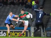 4 March 2017; Cillian O'Connor of Mayo holds off Philip McMahon of Dublin and has his shot saved by Dublin goalkeeper Stephen Cluxton during the Allianz Football League Division 1 Round 4 match between Dublin and Mayo at Croke Park in Dublin. Photo by Brendan Moran/Sportsfile