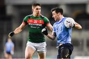 4 March 2017; Michael Darragh Macauley of Dublin in action against Lee Keegan of Mayo during the Allianz Football League Division 1 Round 4 match between Dublin and Mayo at Croke Park in Dublin. Photo by David Fitzgerald/Sportsfile
