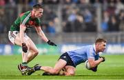 4 March 2017; Ciaran Kilkenny of Dublin in action against Stephen Coen of Mayo during the Allianz Football League Division 1 Round 4 match between Dublin and Mayo at Croke Park in Dublin. Photo by David Fitzgerald/Sportsfile