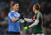 4 March 2017; Paul Flynn of Dublin shakes hands with Colm Boyle of Mayo following the the Allianz Football League Division 1 Round 4 match between Dublin and Mayo at Croke Park in Dublin. Photo by David Fitzgerald/Sportsfile