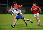 4 March 2017; Jack Mc Carron of Monaghan in action against Pádraig Hampsey of Tyrone during the Allianz Football League Division 1 Round 4 match between Tyrone and Monaghan at Healy Park in Omagh, Co Tyrone. Photo by Oliver McVeigh/Sportsfile