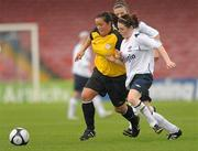 7 August 2011; Noelle Murray, St Catherine's LFC, Dublin, in action against Ericka O'Sullivan, Wilton United, Cork. FAI Umbro Women's Senior Challenge Cup Final 2011, Wilton United, Cork v St Catherine's LFC, Dublin, Turners Cross, Cork. Picture credit: Paul Mohan / SPORTSFILE