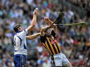 7 August 2011; Kevin Moran, Waterford, in action against Noel Hickey, Kilkenny. GAA Hurling All-Ireland Senior Championship Semi-Final, Kilkenny v Waterford, Croke Park, Dublin. Picture credit: Daire Brennan / SPORTSFILE