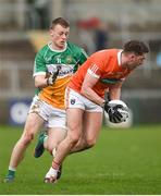 5 March 2017; Anthony Duffy of Armagh in action against Peter Cunningham of Offaly during the Allianz Football League Division 3 Round 4 match between Armagh and Offaly held at the Athletic grounds in Armagh. Photo by Philip Fitzpatrick/Sportsfile