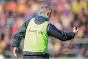 5 March 2017; Roscommon manager Kevin McStay remonstrates with referee Barry Cassidy over additional time at the end of the first half during the Allianz Football League Division 1 Round 4 match between Roscommon and Kerry at Dr Hyde Park in Roscommon. Photo by Stephen McCarthy/Sportsfile