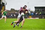 5 March 2017; Michael Day of Galway is tackled by Donal Keogan of Meath during the Allianz Football League Division 2 Round 4 match between Meath and Galway at Páirc Tailteann in Navan, Co Meath. Photo by Ramsey Cardy/Sportsfile