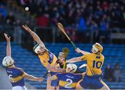 5 March 2017; Aaron Shanagher, left, and Aaron Cunningham of Clare in action against Ronan Maher, left, and Joe O'Dwyer of Tipperary during the Allianz Hurling League Division 1A Round 3 match between Tipperary and Clare at Semple Stadium in Thurles, Co Tipperary. Photo by Matt Browne/Sportsfile