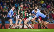 4 March 2017; Diarmuid O'Connor of Mayo in action against Ciarán Kilkenny, right, and Philip McMahon of Dublin during the Allianz Football League Division 1 Round 4 match between Dublin and Mayo at Croke Park in Dublin. Photo by David Fitzgerald/Sportsfile