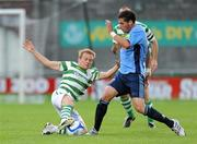 12 August 2011; Conor McCormack, Shamrock Rovers, in action against Graham Rusk, UCD. Airtricity League Premier Division, Shamrock Rovers v UCD, Tallaght Stadium, Tallaght, Co. Dublin. Picture credit: Matt Browne / SPORTSFILE