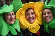 10 March 2017; Supporters, from left, Christine O'Brien from Moira, Co. Armagh, Carol Evans from Wales and Emma Scotch from Belfast, prior to the RBS Six Nations Rugby Championship match between Wales and Ireland at the Principality Stadium in  Cardiff, Wales. Photo by Stephen McCarthy/Sportsfile