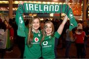 10 March 2017; Ireland supporters Karen, left, and Lorna Nash, from Gorey, Co Wexford, prior to the RBS Six Nations Rugby Championship match between Wales and Ireland at the Principality Stadium in Cardiff, Wales. Photo by Stephen McCarthy/Sportsfile