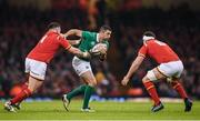10 March 2017; Rob Kearney of Ireland is tackled by Rob Evans of Wales during the RBS Six Nations Rugby Championship match between Wales and Ireland at the Principality Stadium in Cardiff, Wales. Photo by Stephen McCarthy/Sportsfile