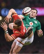 10 March 2017; George North of Wales is tackled by Robbie Henshaw of Ireland during the RBS Six Nations Rugby Championship match between Wales and Ireland at the Principality Stadium in Cardiff, Wales. Photo by Brendan Moran/Sportsfile