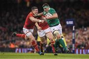 10 March 2017; CJ Stander of Ireland is tackled by Scott Williams of Wales during the RBS Six Nations Rugby Championship match between Wales and Ireland at the Principality Stadium in Cardiff, Wales. Photo by Brendan Moran/Sportsfile