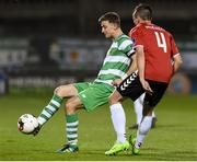 10 March 2017; Ronan Finn of Shamrock Rover in action against Aaron McEneff of Derry City during the SSE Airtricity League Premier Division match between Shamrock Rovers and Derry City at Tallaght Stadium in Tallaght, Dublin. Photo by Matt Browne/Sportsfile