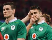 10 March 2017; Conor Murray, right, and his Ireland team-mate Jonathan Sexton following the RBS Six Nations Rugby Championship match between Wales and Ireland at the Principality Stadium in Cardiff, Wales. Photo by Stephen McCarthy/Sportsfile