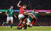 10 March 2017; Jamie Heaslip of Ireland is tackled by Liam Williams, left, and Justin Tipuric of Wales during the RBS Six Nations Rugby Championship match between Wales and Ireland at the Principality Stadium in Cardiff, Wales. Photo by Brendan Moran/Sportsfile