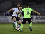 10 March 2017; Conor Clifford of Dundalk in action against Shane Duggan of Limerick during the SSE Airtricity League Premier Division match between Dundalk and Limerick at Oriel Park in Dundalk, Co Louth. Photo by Seb Daly/Sportsfile