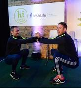 11 March 2017; Former Dublin footballer Alan Brogan, left, and Kilkenny hurler Michael Fennelly at the GAA Healthy Club Roadshow - Leinster. The GAA Healthy Clubs Project, in partnership with Irish Life and Healthy Ireland, aims to inspire and empower more GAA clubs to support their members and communities in pursuit of better physical, social, and mental wellbeing.The Leinster HCP is part of a series of roadshows taking place across the country. GAA clubs can book up to four free places per club at their respective provincial Healthy Clubs roadshow by visiting: www.gaa.ie/community. For more information, visit: www.gaa.ie/community Follow: @officialgaa or Like: www.facebook.com/officialgaa/. Croke Park, Dublin. Photo by Piaras Ó Mídheach/Sportsfile
