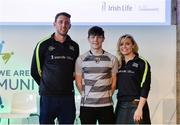 11 March 2017; Ciarán Murphy, from Buffers Alley, Co Wexford, centre, with Kilkenny hurler Michael Fennelly and Anna Geary, former Cork Camogie captain, at the GAA Healthy Club Roadshow - Leinster. The GAA Healthy Clubs Project, in partnership with Irish Life and Healthy Ireland, aims to inspire and empower more GAA clubs to support their members and communities in pursuit of better physical, social, and mental wellbeing.The Leinster HCP is part of a series of roadshows taking place across the country. GAA clubs can book up to four free places per club at their respective provincial Healthy Clubs roadshow by visiting: www.gaa.ie/community. For more information, visit: www.gaa.ie/community Follow: @officialgaa or Like: www.facebook.com/officialgaa/. Croke Park, Dublin. Photo by Piaras Ó Mídheach/Sportsfile