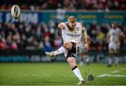 11 March 2017; Stuart Olding of Ulster kicking a conversation during the Guinness PRO12 Round 9 Refixture match between Ulster and Zebre at Kingspan Stadium in Belfast. Photo by Oliver McVeigh/Sportsfile