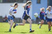 12 March 2017; Katie Murray of WIT in action Orla McGonigal of DIT  during the Lynch Cup Final match between Waterford Institute of Technology and Dublin Institute of Technology at St Patrick's Park in Westport, Co. Mayo. Photo by Brendan Moran/Sportsfile