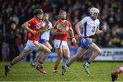 12 March 2017; Shane Bennett of Waterford on his way to scoring his side's first goal despite the attention of Mark Coleman of Cork during the Allianz Hurling League Division 1A Round 4 match between Waterford and Cork at Walsh Park in Waterford. Photo by Stephen McCarthy/Sportsfile