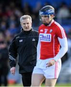 12 March 2017; Cork manager Kieran Kingston and Conor Lehane before the Allianz Hurling League Division 1A Round 4 match between Waterford and Cork at Walsh Park in Waterford. Photo by Stephen McCarthy/Sportsfile