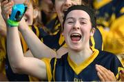 12 March 2017; Michelle Noonan of DCU celebrates after the Giles Cup Final match between Dublin City University and Athlone Institute of Technology at Elverys MacHale Park in Castlebar, Co. Mayo. Photo by Brendan Moran/Sportsfile