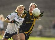12 March 2017; Aishling Greene of DCU in action against Kiera Ward of AIT during the Giles Cup Final match between Dublin City University and Athlone Institute of Technology at Elverys MacHale Park in Castlebar, Co. Mayo. Photo by Brendan Moran/Sportsfile