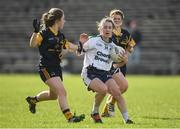 12 March 2017; Rosemary Courtney of AIT in action against Caoimhe O Fearghail of DCU during the Giles Cup Final match between Dublin City University and Athlone Institute of Technology at Elverys MacHale Park in Castlebar, Co. Mayo. Photo by Brendan Moran/Sportsfile