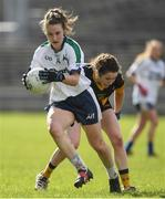 12 March 2017; Rosemary Courtney of AIT in action against Marian Farrelly of DCU during the Giles Cup Final match between Dublin City University and Athlone Institute of Technology at Elverys MacHale Park in Castlebar, Co. Mayo. Photo by Brendan Moran/Sportsfile