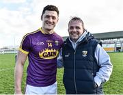 12 March 2017; Wexford manager Davy Fitzgerald celebrates with Lee Chin at the end of the Allianz Hurling League Division 1B Round 4 match between Offaly and Wexford at O'Connor Park in Tullamore, Co. Offaly. Photo by David Maher/Sportsfile