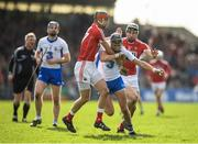 12 March 2017; Maurice Shanahan of Waterford in action against Mark Coleman, left, and Mark Ellis of Cork during the Allianz Hurling League Division 1A Round 4 match between Waterford and Cork at Walsh Park in Waterford. Photo by Stephen McCarthy/Sportsfile