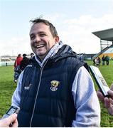 12 March 2017; Wexford manager Davy Fitzgerald celebrates at the end of the Allianz Hurling League Division 1B Round 4 match between Offaly and Wexford at O'Connor Park in Tullamore, Co. Offaly. Photo by David Maher/Sportsfile