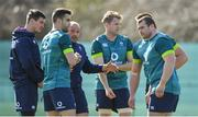 14 March 2017; Ireland captain Rory Best speaks to his team-mates, from left, Jonathan Sexton, Conor Murray, Jamie Heaslip, CJ Stander and Jack McGrath during squad training at Carton House in Maynooth, Co Kildare. Photo by Brendan Moran/Sportsfile