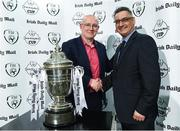 14 March 2017; Fran Gavin, Competition Director, Football Association of Ireland, with David Vaz, Circulation manager DMG Media Ireland, during the Irish Daily Mail FAI Senior Cup Qualifying Round Draw at FAI HQ in Abbotstown, Co. Dublin. Photo by David Maher/Sportsfile