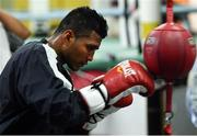 14 March 2017; Román Gonzalez during a workout session at Mendez Boxing Gym in New York, USA. Photo by Ramsey Cardy/Sportsfile