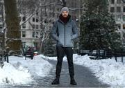 15 March 2017; Andy Lee poses for a portrait in Madison Square Park in New York, USA. Photo by Ramsey Cardy/Sportsfile