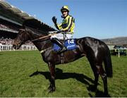 15 March 2017; David Bass, waves to the cameras after winning the Neptune Investment Management Novices' Hurdle on Willoughby Court during the Cheltenham Racing Festival at Prestbury Park in Cheltenham, England. Photo by Seb Daly/Sportsfile