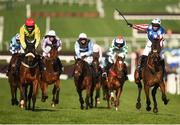 15 March 2017; Noel Fehily, right, celebrates after winning the Betway Queen Mother Champion Chase on Special Tiara during the Cheltenham Racing Festival at Prestbury Park in Cheltenham, England. Photo by Seb Daly/Sportsfile