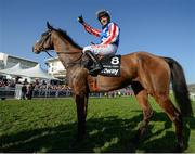 15 March 2017; Noel Fehily gives the thumbs-up after winning the Betway Queen Mother Champion Chase on Special Tiara during the Cheltenham Racing Festival at Prestbury Park in Cheltenham, England. Photo by Seb Daly/Sportsfile