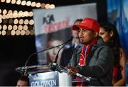 14 March 2017; Román Gonzalez during a press conference in The Theater at Madison Square Garden in New York, USA. Photo by Ramsey Cardy/Sportsfile