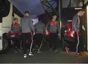 15 March 2017; The Tyrone team arriving during the EirGrid Ulster GAA Football U21 Championship Quarter-Final match between Tyrone and Donegal at Healy Park in Omagh, Co Tyrone. Photo by Philip Fitzpatrick/Sportsfile