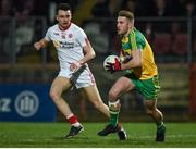 15 March 2017; Tony McCleneghan of Donegal in action against Paul Donaghy of Tyrone during the EirGrid Ulster GAA Football U21 Championship Quarter-Final  match between Tyrone and Donegal at Healy Park in Omagh, Co Tyrone. Photo by Philip Fitzpatrick/Sportsfile Photo by Philip Fitzpatrick/Sportsfile