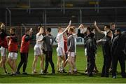 15 March 2017; Tyrone players after the game. EirGrid Ulster GAA Football U21 Championship Quarter-Final match between Tyrone and Donegal at Healy Park in Omagh, Co Tyrone. Photo by Philip Fitzpatrick/Sportsfile