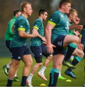 16 March 2017; Conor Murray during Ireland rugby squad training at Carton House in Maynooth, Co Kildare. Photo by Stephen McCarthy/Sportsfile