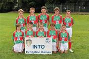 21 August 2011; The Mayo boys team, back row, left to right, Aodhán Ó Bogaigh, Scoil Mobhi, Co. Dublin, Darren O'Dwyer, Scoil Teampall Toinne, Ballyporeen, Co. Tipperary, Patrick Smyth, Scoil Eoin Baiste, Clontarf, Co. Dublin, Conor Diskin, Barnacarroll N.S., Claremorris, Co. Mayo, front row, left to right, Cathal O'Mahony, Mitchelstown C.B.S., Co. Cork, Brandon Murphy, Shanagolden N.S., Shanagolden, Co. Limerick, Patrick Warren, Raheen N.S., Headford, Co. Kerry, Liam Harrington, Scoil An Spioraid Naoimh, Roxborough, Co. Limerick, Cathal Darcy, Ennis N.S., Ennis, Co. Clare. Go Games Exhibition - Sunday 21st August 2011, Clonliffe College, Dublin. Picture credit: Ray McManus / SPORTSFILE