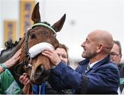 16 March 2017; Owner Philip Reynolds with horse Presenting Percy after winning the Pertemps Network Final Handicap Hurdle during the Cheltenham Racing Festival at Prestbury Park in Cheltenham, England. Photo by Seb Daly/Sportsfile